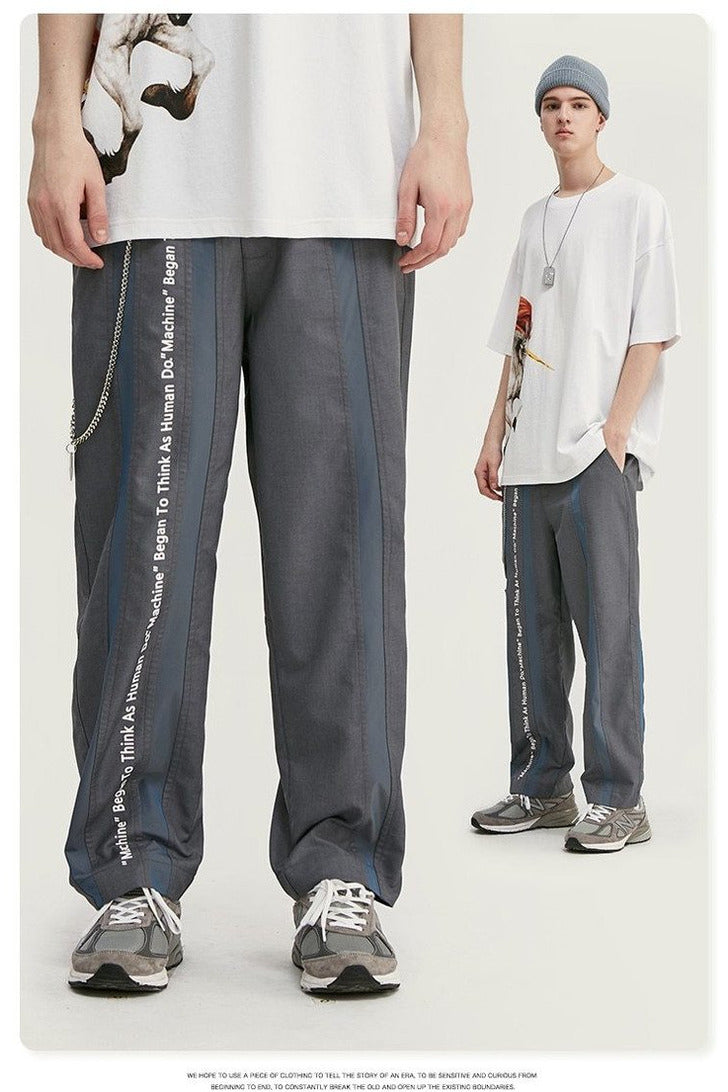Hip Hop Men Polyester Straight Mens Pants - SKYCLUB