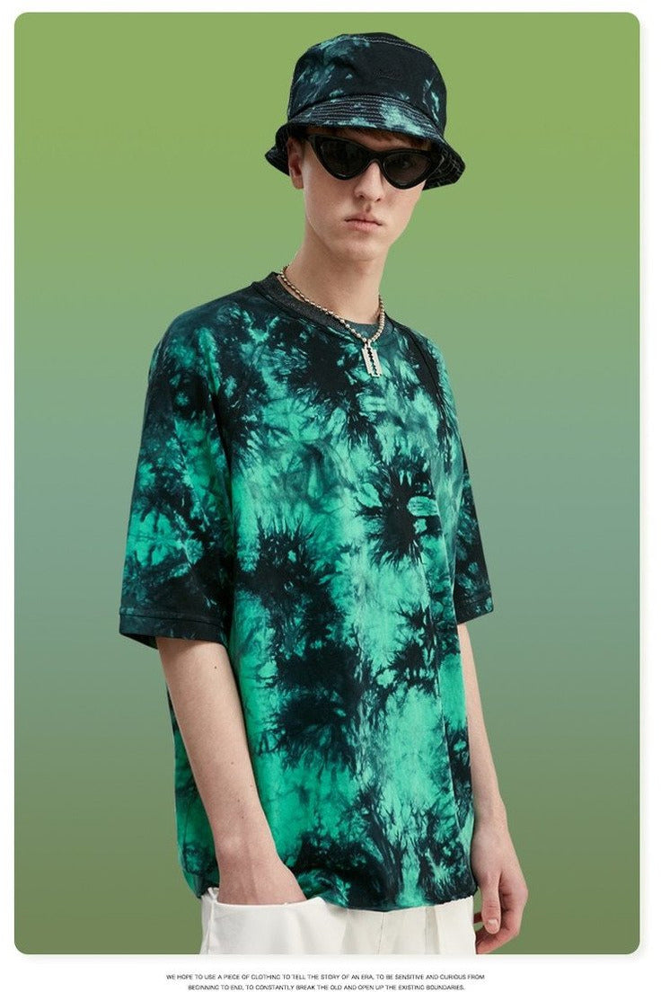 Summer Tie Dye Men T shirt O-neck - SKYCLUB