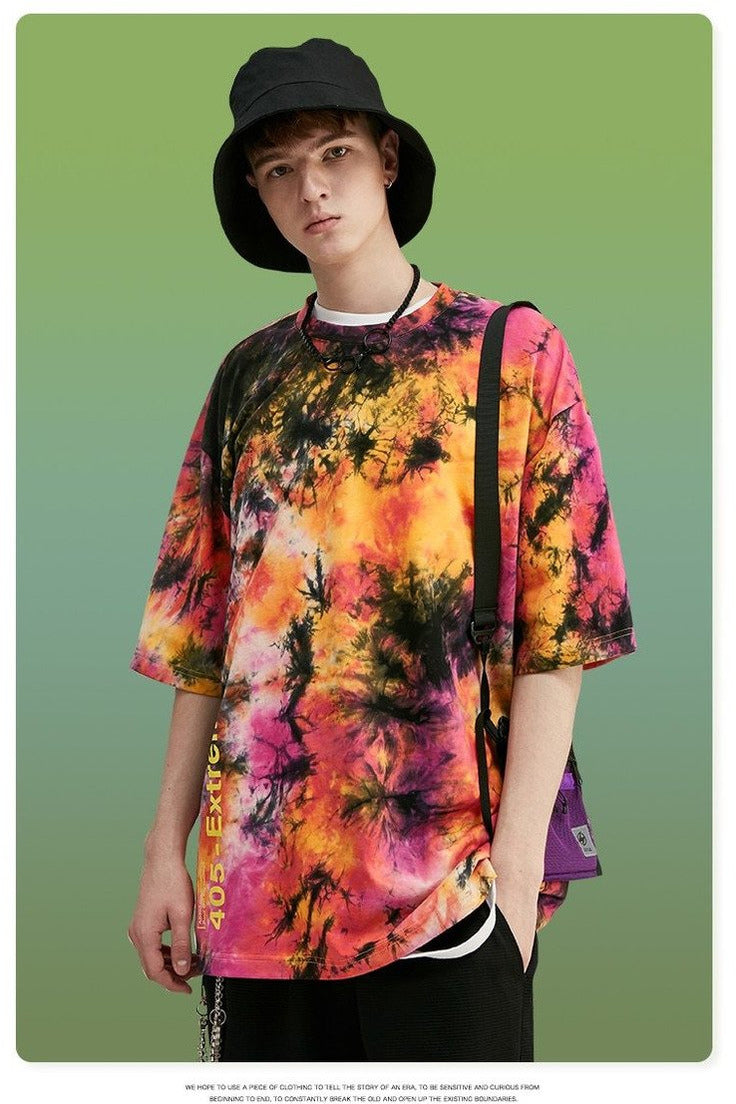 Oversized Tie Dye T-shirt Fashion Style - SKYCLUB