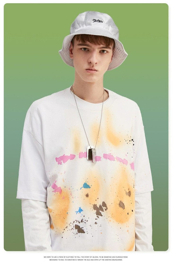 Colorful Splash - ink Tshirt Oversized Tshirt - SKYCLUB