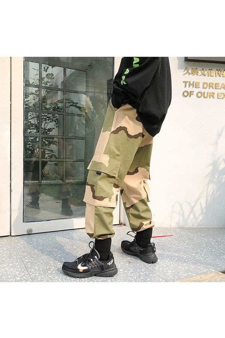 Camouflage Drawcord Cargo Jogger Pants - SKYCLUB