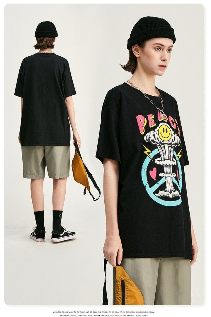 Print Men Couple Tee Shirt Homme - SKYCLUB
