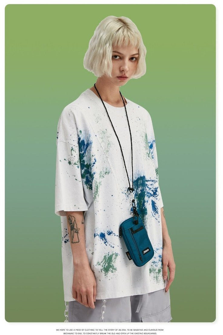 Tie Dye Men Oversized Tshirt Cotton - SKYCLUB