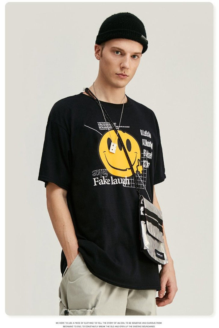 Smile Print Short Sleeve Tee