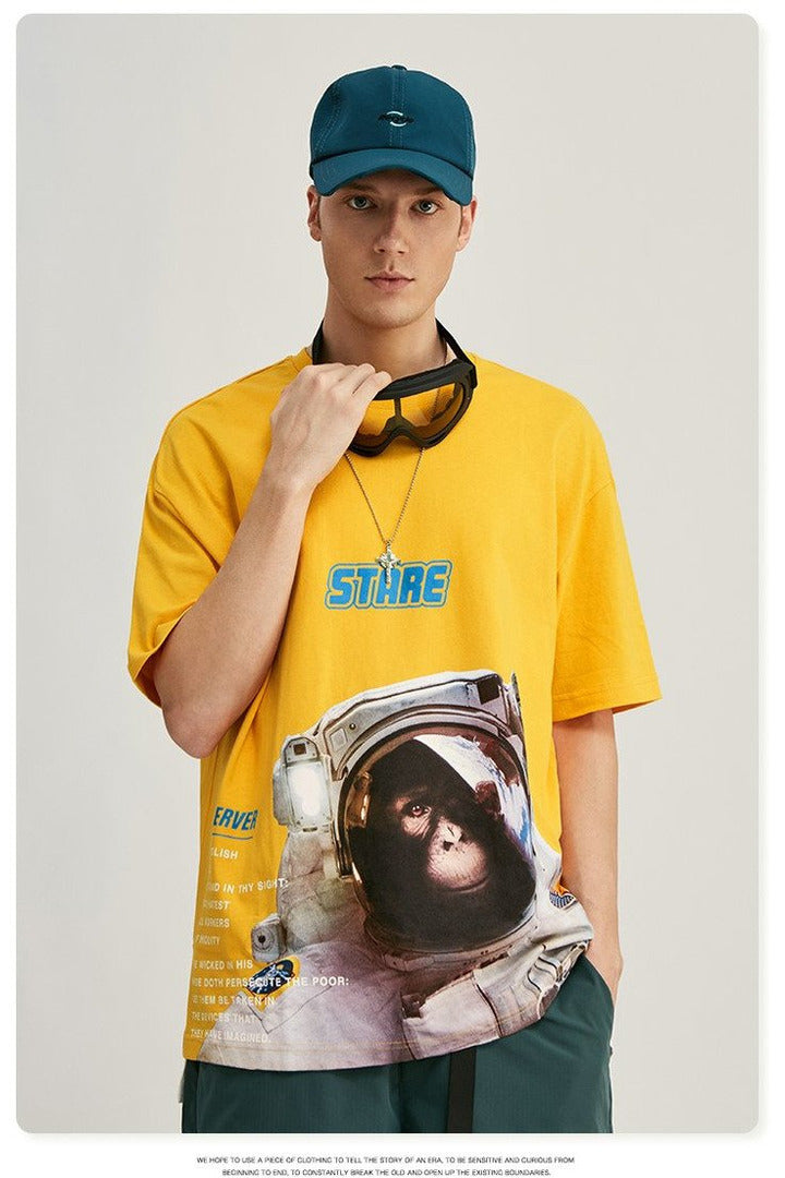 Mens Anime Cotton T-shirt - SKYCLUB