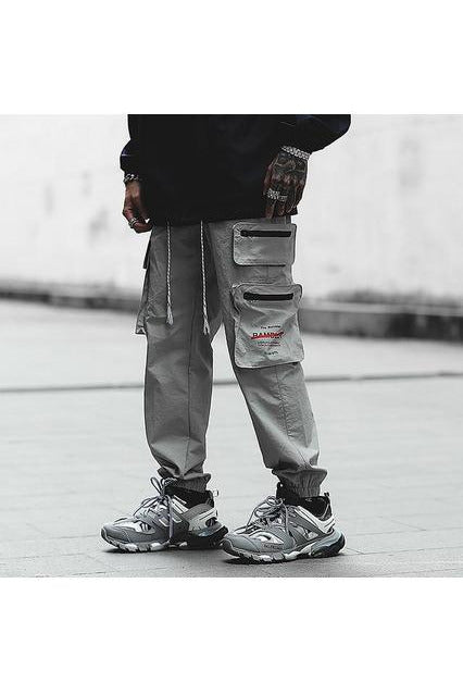 Cargo Zipper Pockets Joggers Track Pants