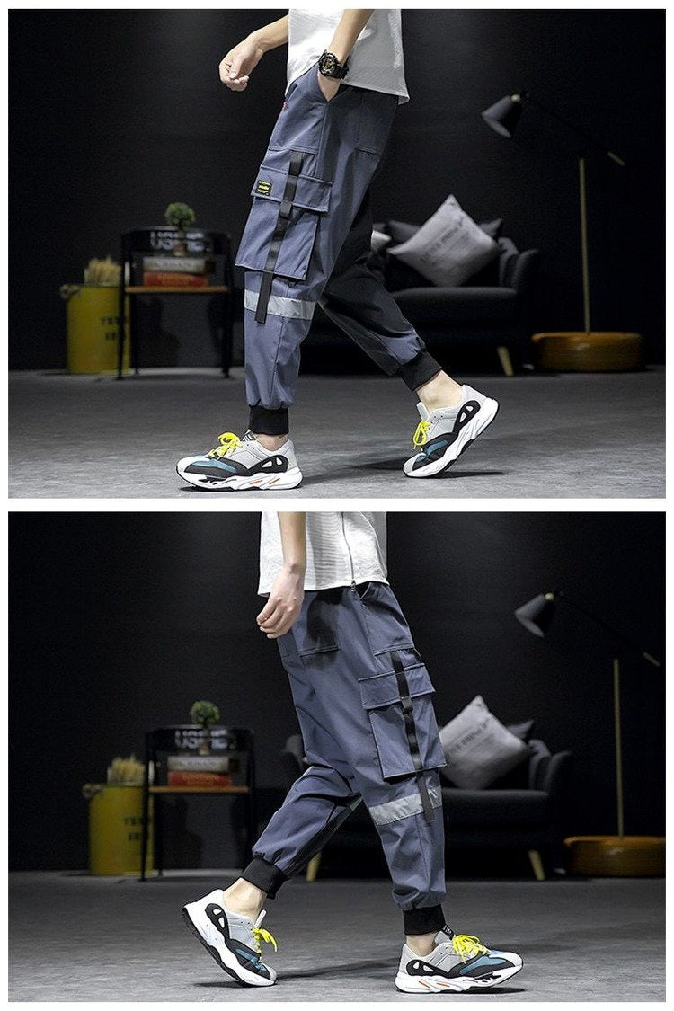 Cargo Baggy Pockets Ribbon Jogger Harem Pants
