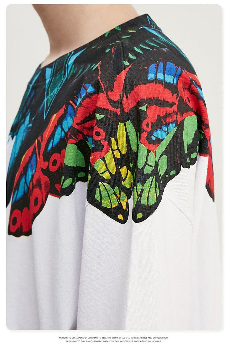 Cotton Graffiti Print T-shirt - SKYCLUB