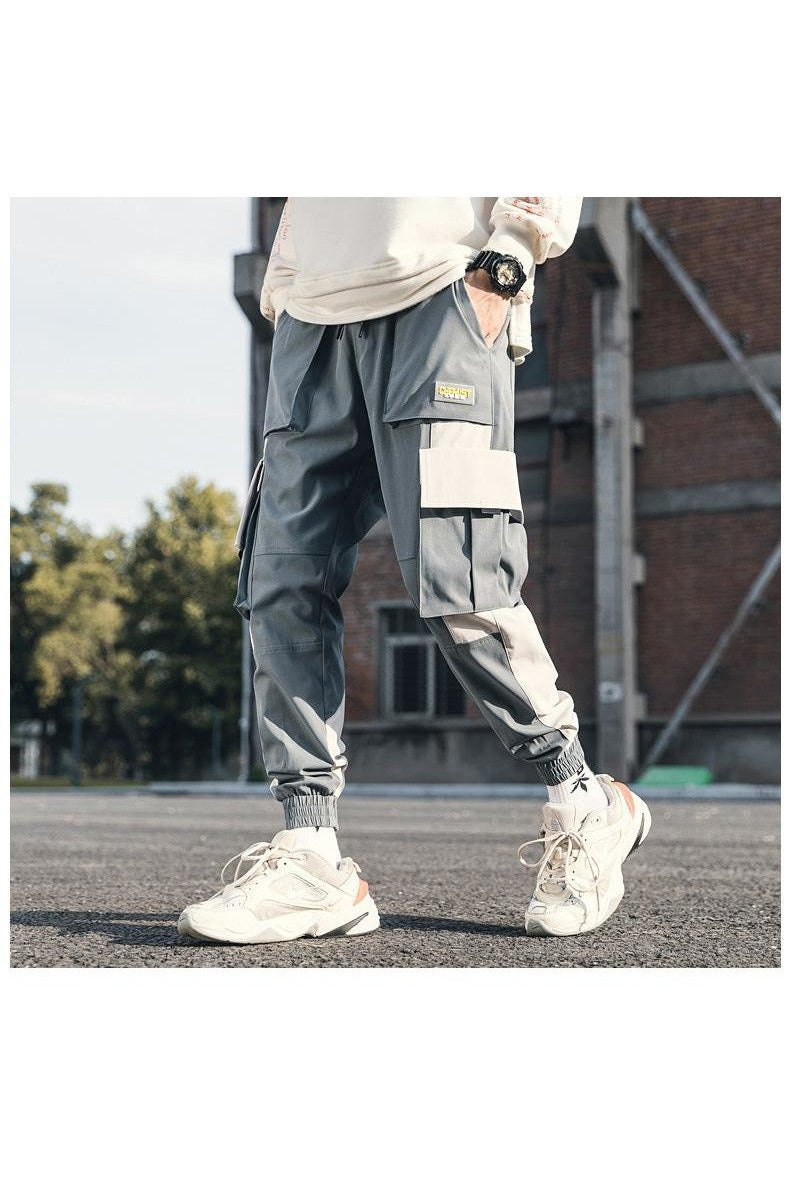 Cargo Joggers Color Block Harem Track Pants