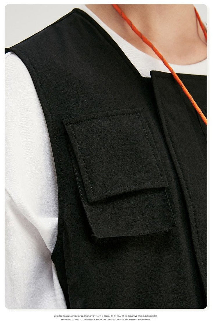Uprising Multi Pocket Utility Gilet Vest Top - SKYCLUB