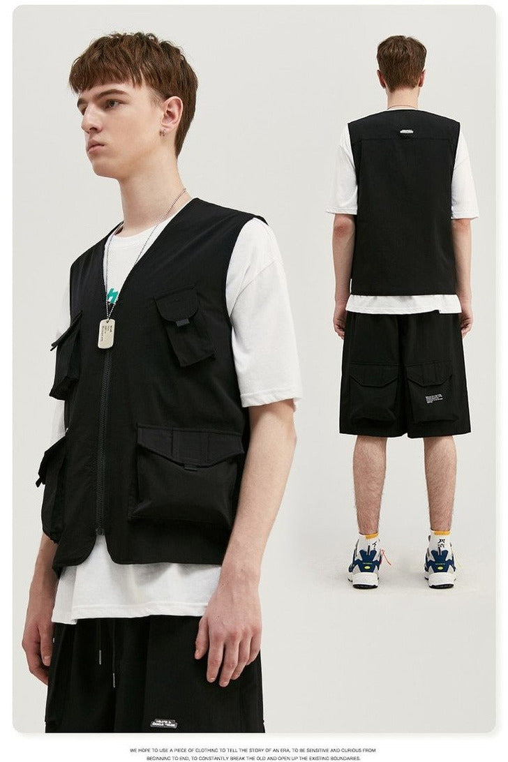 Uprising Utility Suit Loose Fit Vest Top - SKYCLUB