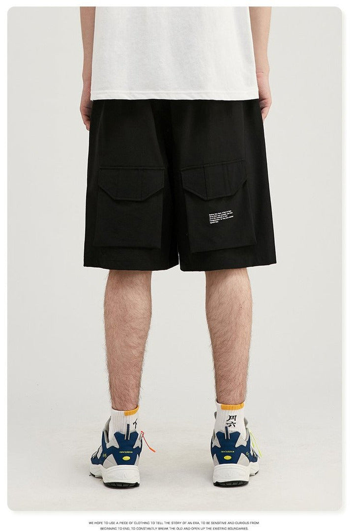 Uprising Utility Suit Loose Fit Tee Shorts - SKYCLUB