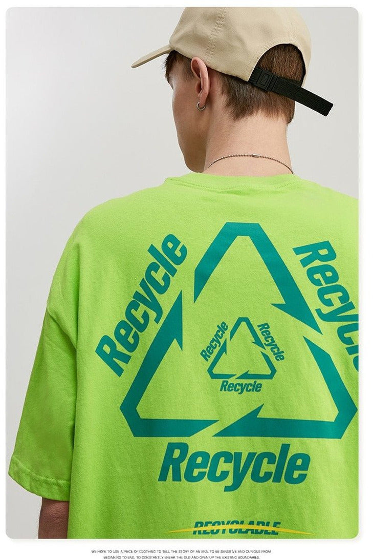 New Earth Recycle O-Neck Tee - SKYCLUB