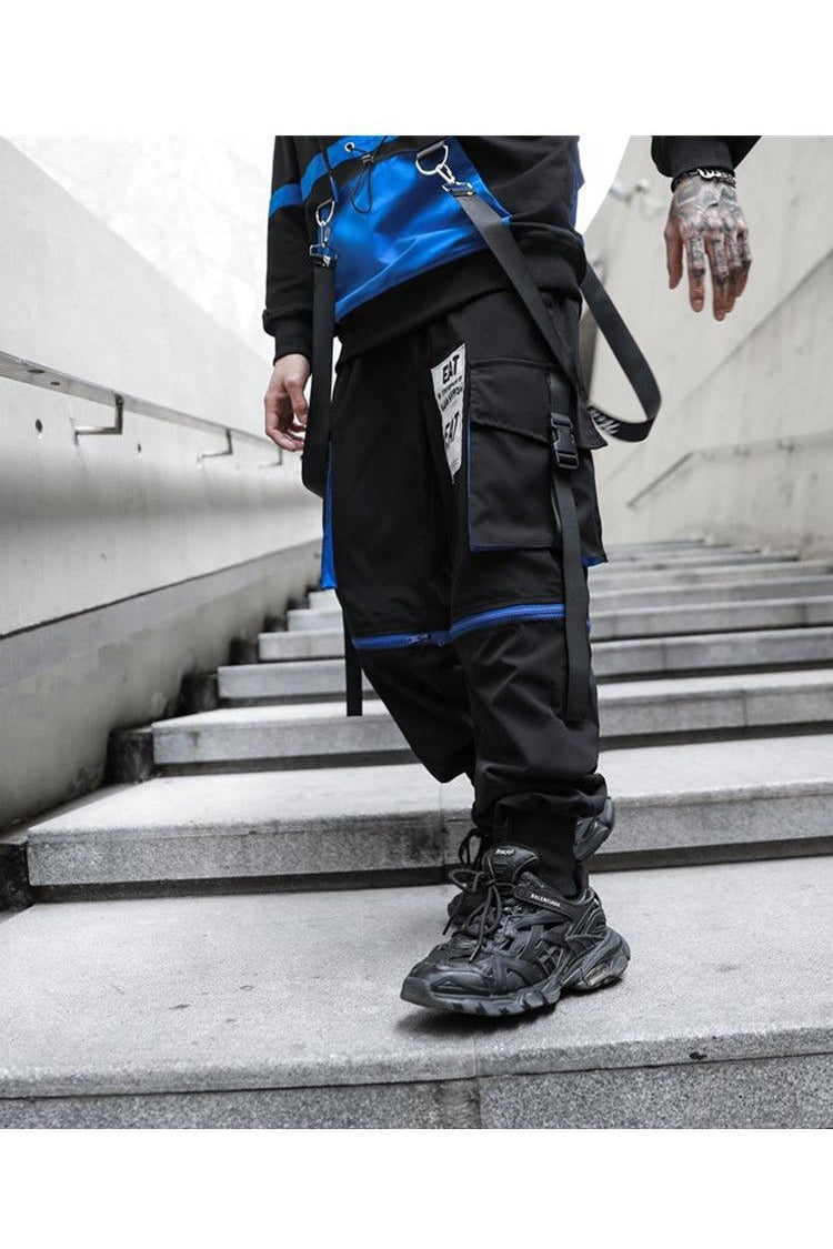 Removable Cargo Function Baggy Harem Pants