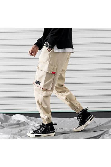 Cargo Joggers Overalls Loose Black Pocket Trousers Pants