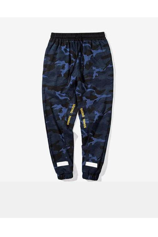 Camouflage Spliced Bamboo Cotton Jogger Pants - SKYCLUB