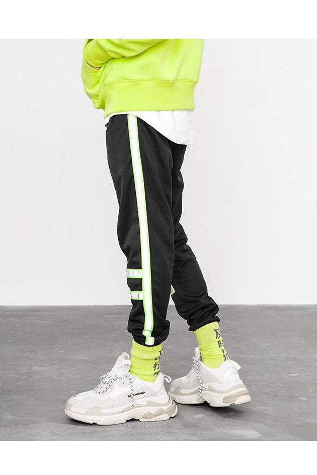 SK-P-HP-T194 REFLECTIVE STRIP TRACK PANTS - SKYCLUB