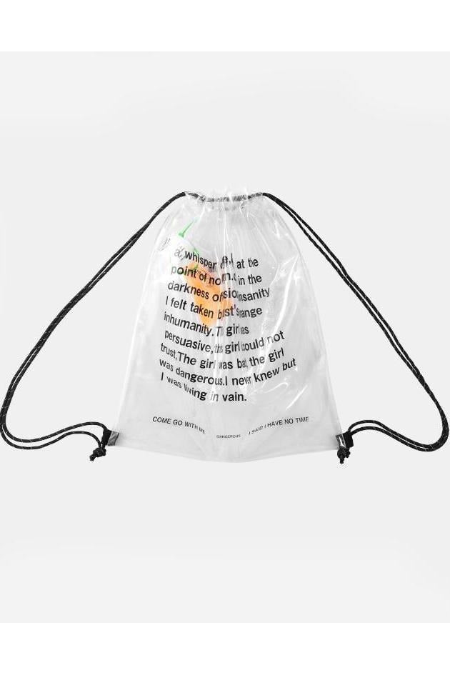 SK-C-FS-T104 TRANSPARENT DRAWSTRING BAG - SKYCLUB