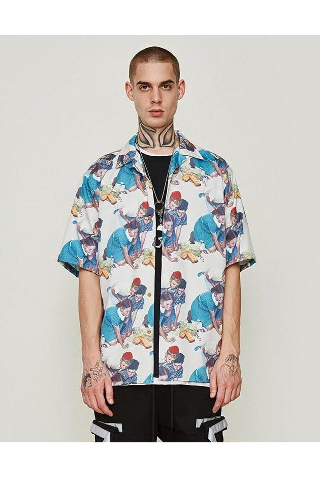 Craps Beach Print Hawaiian Shirt - SKYCLUB