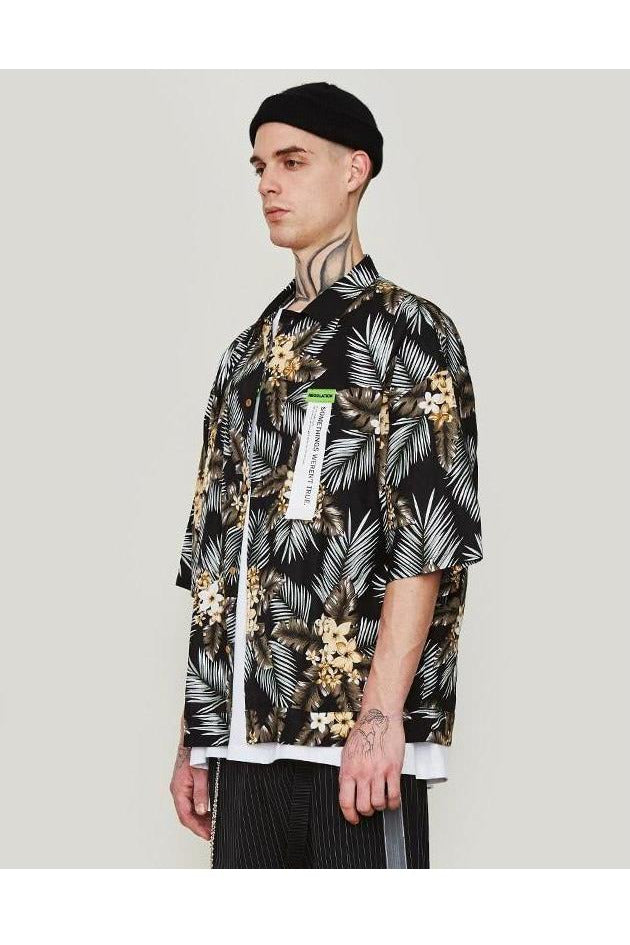 Beach Leisure Short Sleeve Loose Fit Shirt - SKYCLUB