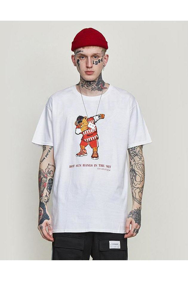 Loose Fit Graphic Comic Print Tee - SKYCLUB