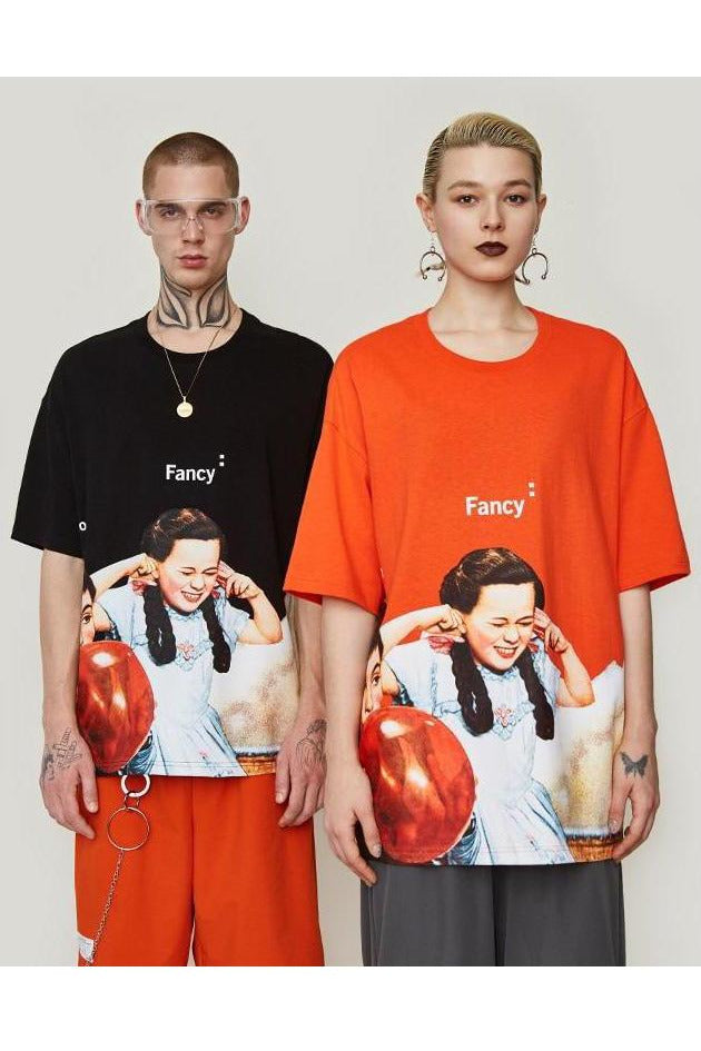 Fancy O-neck Balloon Loose Tee - SKYCLUB