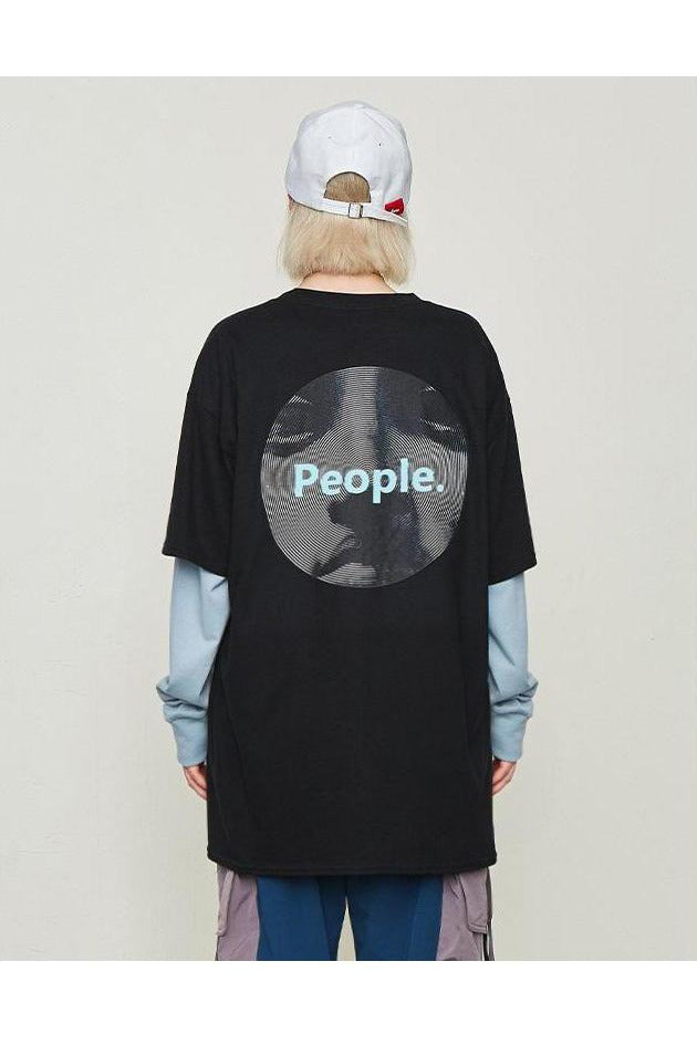 People Generation Graphic Print Tee - SKYCLUB
