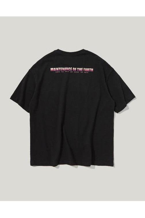 Maintain Peace Graphic Print O-Neck Tee - SKYCLUB