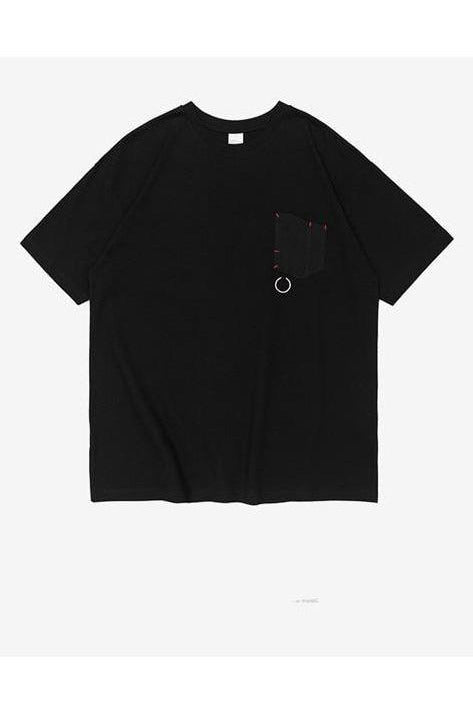 Solid Color Oversized O-Neck Tee - SKYCLUB