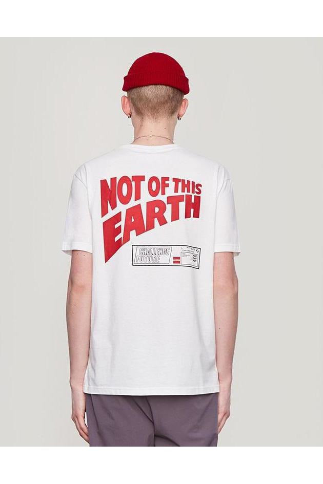 Not Of This Earth Letter Print Short Sleeve T-Shirt - SKYCLUB