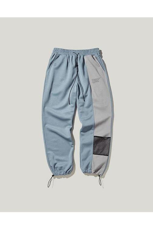 Jogger Side Splicing Color Print Elastic Waist Pants - SKYCLUB