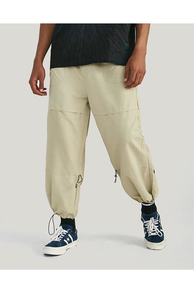 Loose Elastic Waist Trousers Pants - SKYCLUB