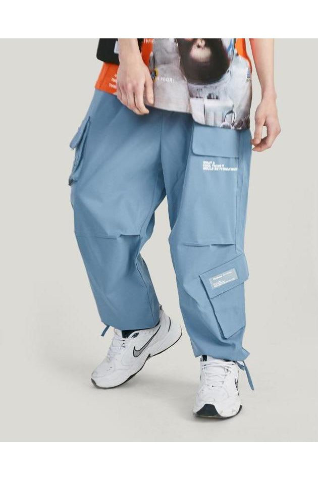 Loose Cargo Pants Multiple Pocket Pants - SKYCLUB