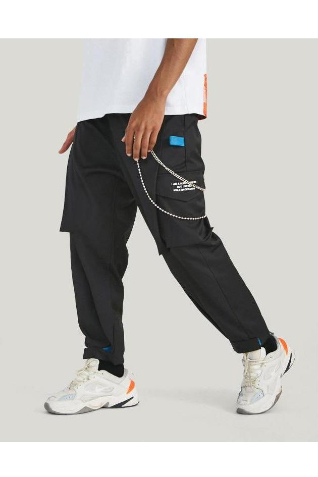 Cargo Side Pockets Loose Trousers Pants - SKYCLUB