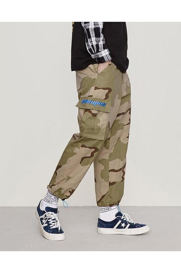 Camouflage Cargo Loose Multiple Pockets Trouser Pants - SKYCLUB
