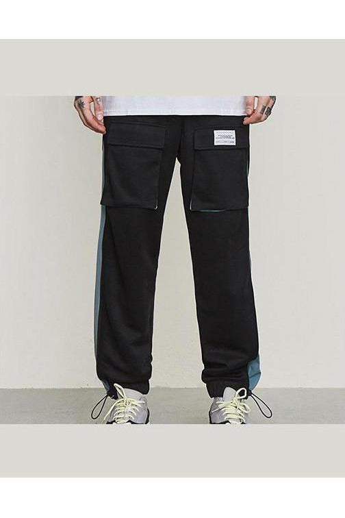 Windbreaker Trouser Sweatpants Color Stitch Pantalon Homme Pants - SKYCLUB