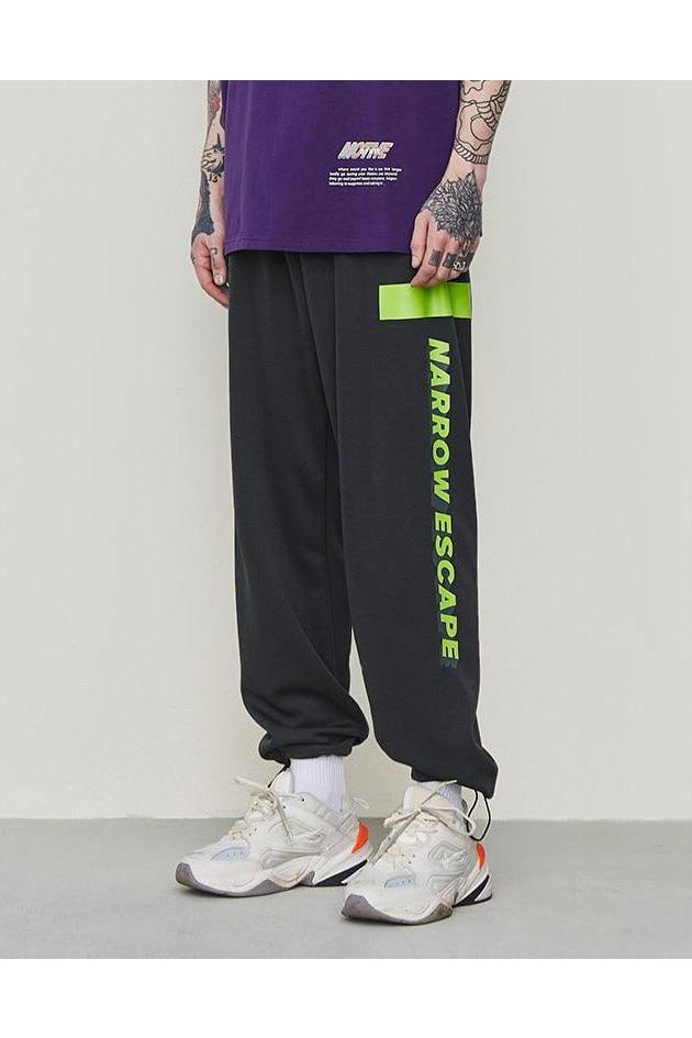 Fluorescent Joggers Trousers Green Printing Pants - SKYCLUB