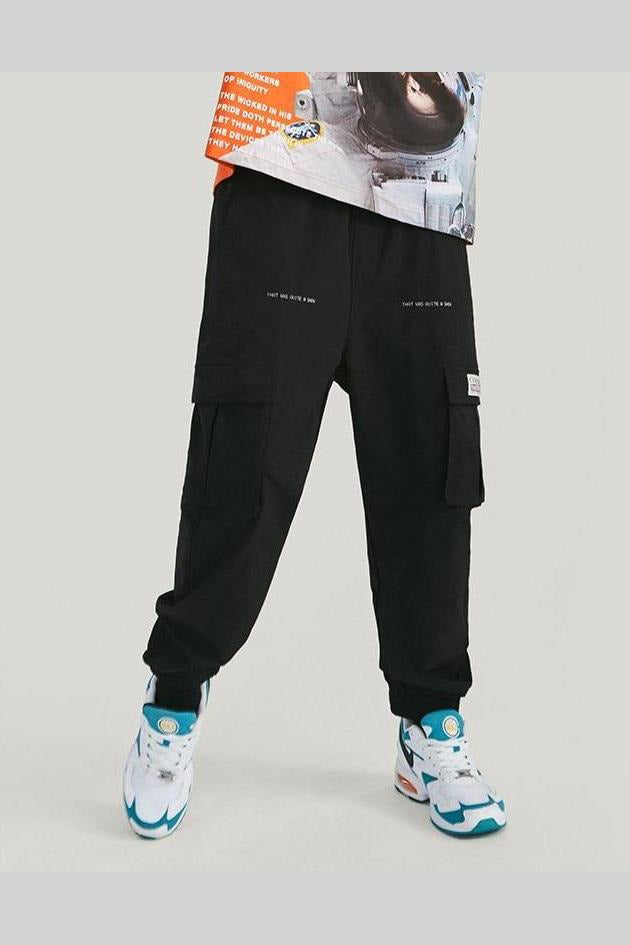Windbreaker Trousers Side Pockets Pants - SKYCLUB