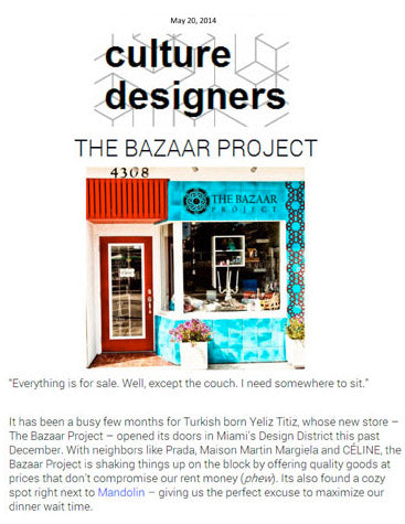 The Bazaar Project Press - Culture Designers-July