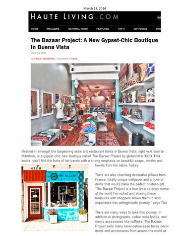The Bazaar Project Press - Hauteliving.com-March
