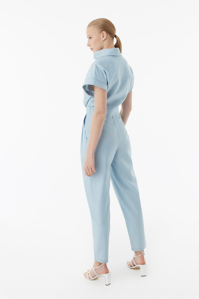 EXQUISE BLUE JUMPSUIT
