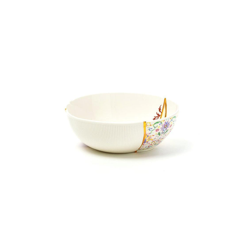 """KINTSUGI N'1"" BOWL PLATE IN PORCELAIN LARGE"