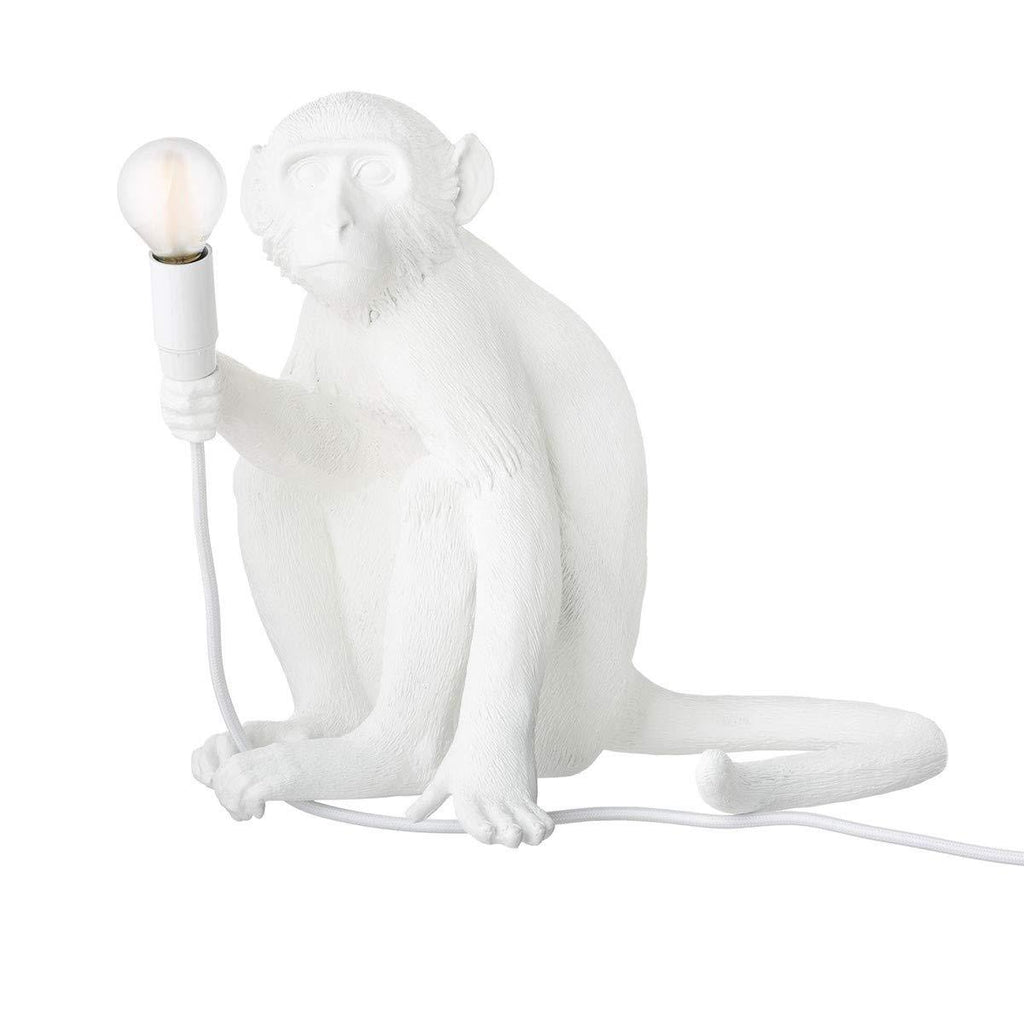"RESIN LAMP ""MONKEY LAMP"" SITTING"