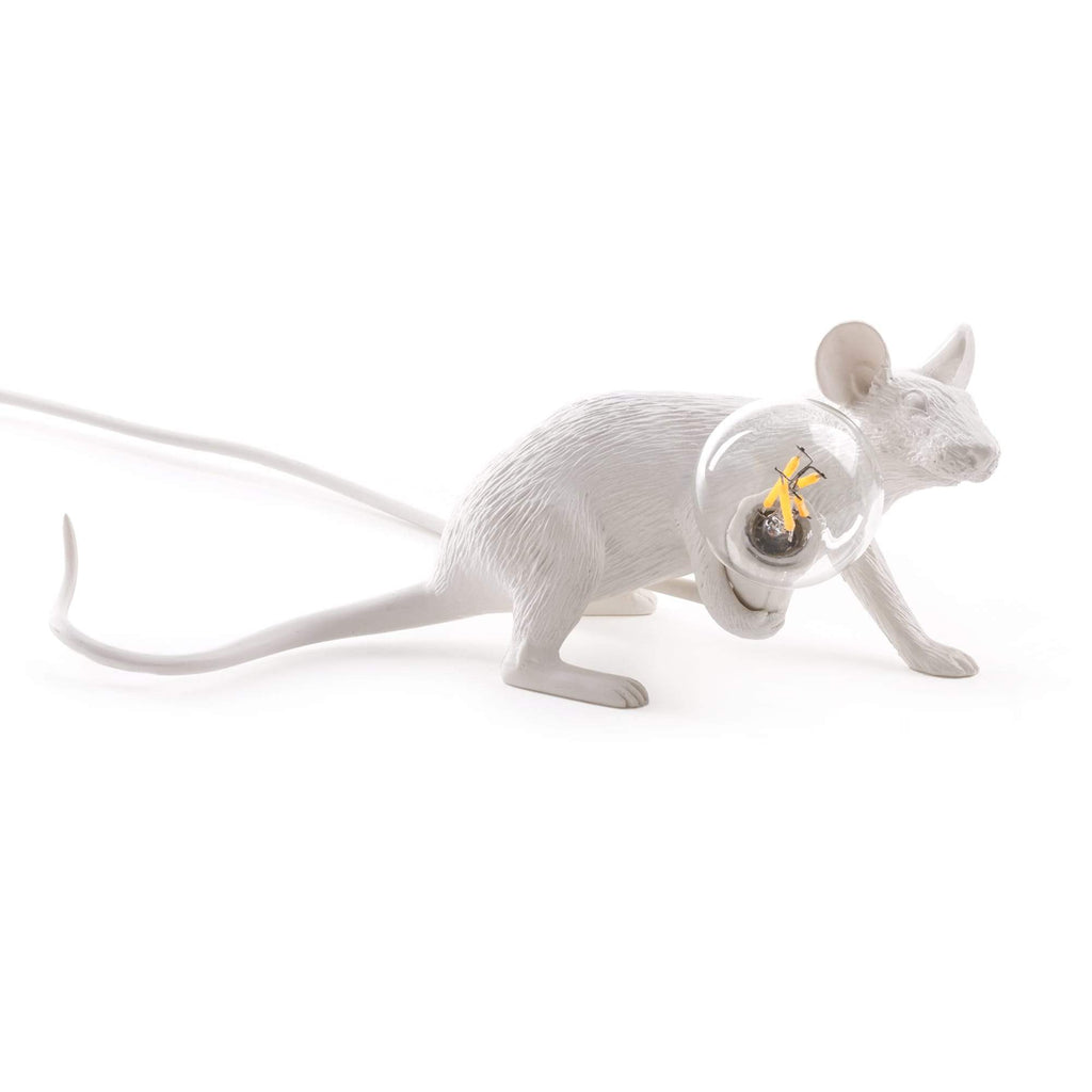 WHITE MOUSE LAMP LIE DOWN