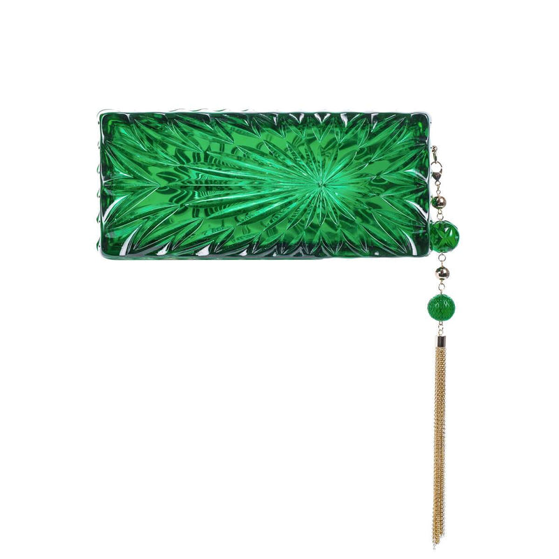 DOUGLAS SPOON EMERALD CLUTCH