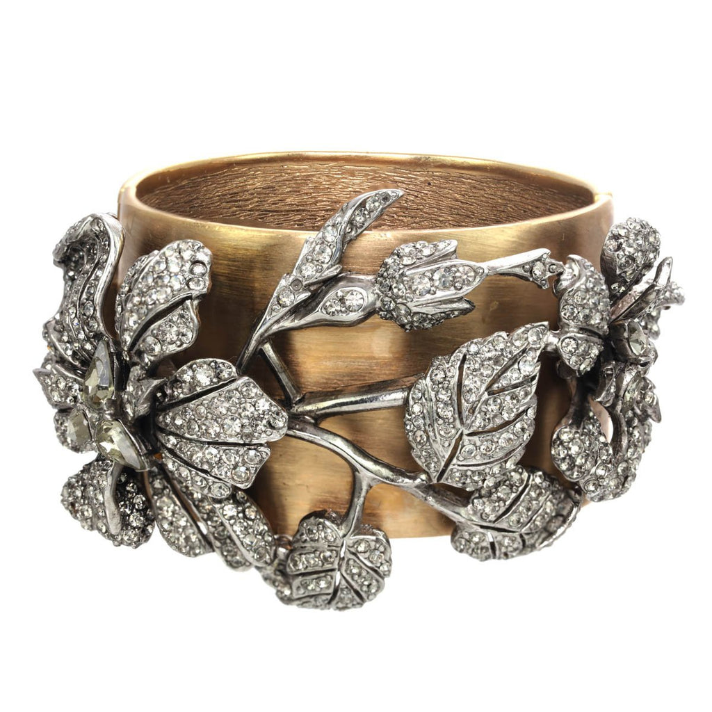 TWO-TONED SPRAY CUFF BRACELET