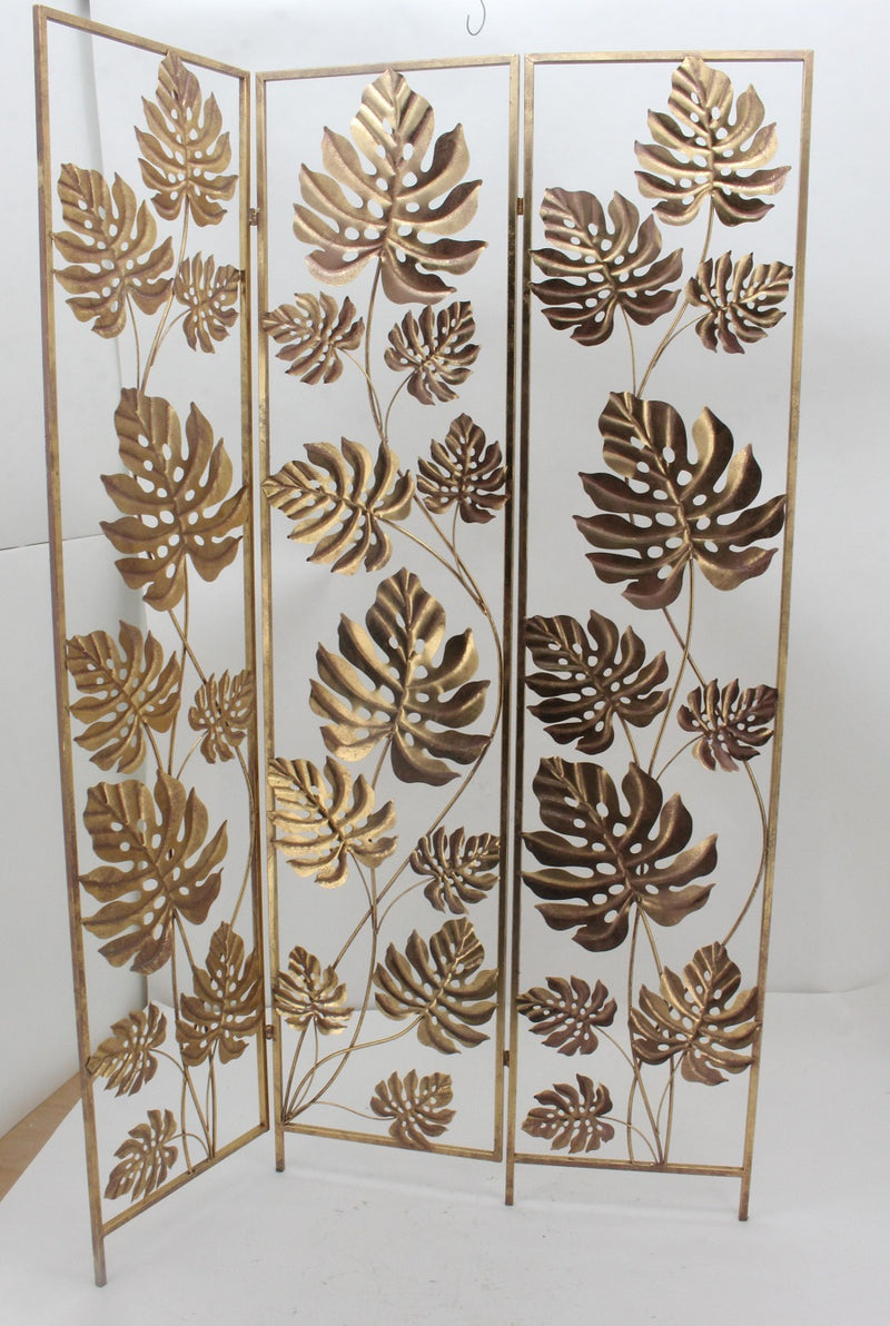 TROPICAL ROOM DIVIDER FOLDING SCREEN