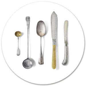 CUTLERY ROUND PLACEMAT