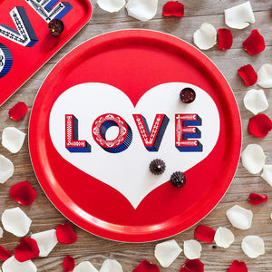 LOVE MULTI ROUND TRAY