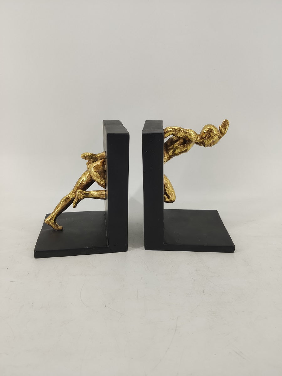 GOLD RUNNING MEN BOOKEND 28x14x19h